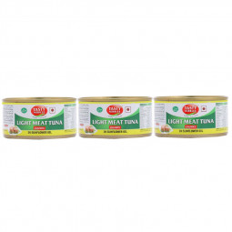 Tasty Nibbles Tuna Chunks in Sunflower oil 170gx3