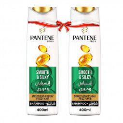 Pantene Pro-V Smooth & Silky Shampoo 400ml Twin Pack