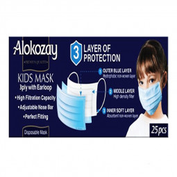 Alokozay Kids Face Mask 25 Piece - 3 Ply