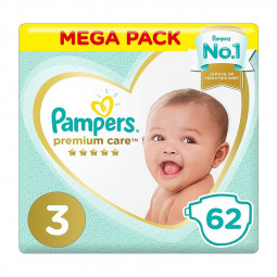 Pampers Premium Care Diapers Size 3, 6-10 kg