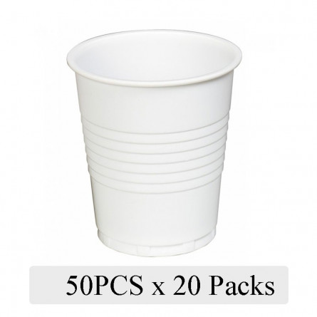 Disposable White Plastic Cup 50pcs Pack of 20