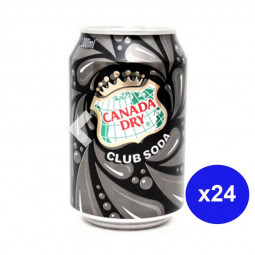 Canada Dry Club Soda Can 300ml Pack of 24