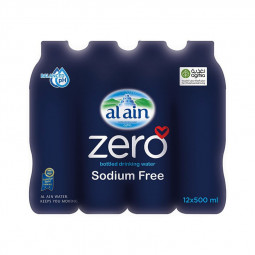 Al Ain Zero Bottled Water 500ml Pack of 12
