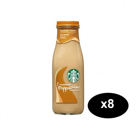 Starbucks Frappuccino Caramel Coffee Drink 250ml Pack Of 8