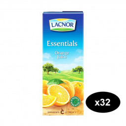 Lacnor Essentials Orange Juice 180ml Pack of 32