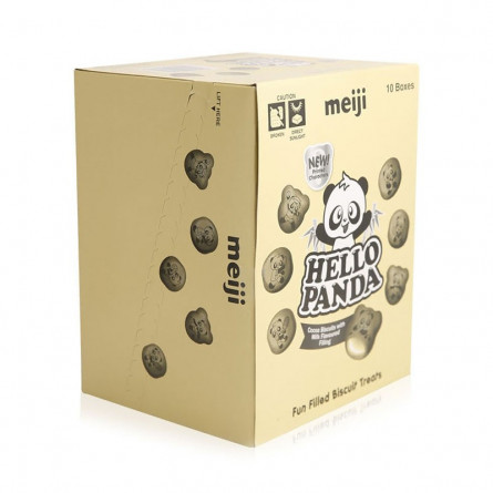 Hello Panda Cocoa Filling Milk Biscuits 50g Pack of 10