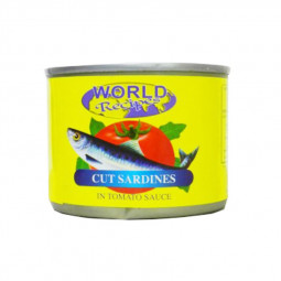 World Recipes Cut Sardines In Tomato Sauce 180g