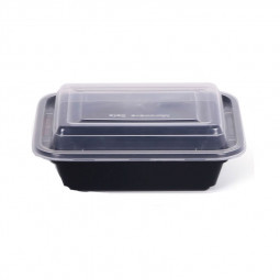 Hotpack Rectangle Black Base Container 12oz