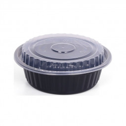 Hotpack Round Black Base Container 16oz