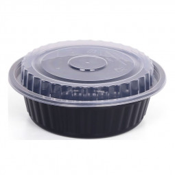 Hotpack Round Black Base Container 32oz