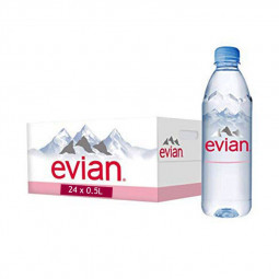 Evian Natural Mineral Water 500ml Pack of 24