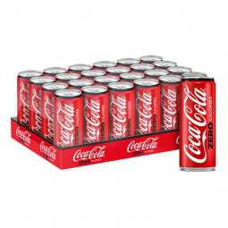 Coca Cola Zero Sugar Can 330ml Pack of 24