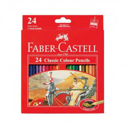 Faber Castell 24-Piece Classic Colour Pencils
