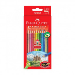 Faber Castell 12-Pieces Grip Colour Pencils