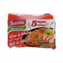 Indomie Noodles Hot and Spicy 80g Pack of 5