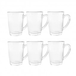 Royalford 6-Piece Glass Cup Set Clear
