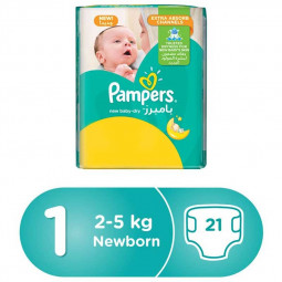Pampers New Baby-Dry Diapers Size 1,2-5kg
