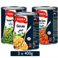 Nora Baked Beans + Chick Peas + Processed Peas