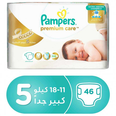 Pampers Premium Care Diapers Size 5, 11-18 kg