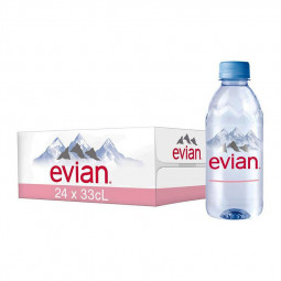 Evian Natural Mineral Water 330ml Pack of 24