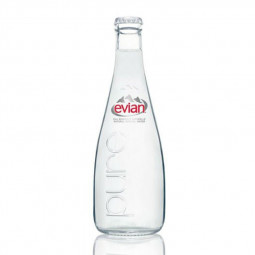 Evian Natural Mineral Water Glass Bottle 330ml