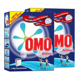 Omo Active Laundry Detergent Powder 2.5kg Twin Pack