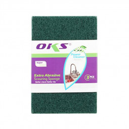 OKS Dish Washing Scourer Scouring Pads 10 Pieces