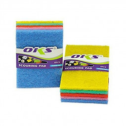 OKS Washing Coloured Scouring Pads 5 Pieces