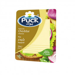 Puck Natural Cheddar Cheese Slices 150g