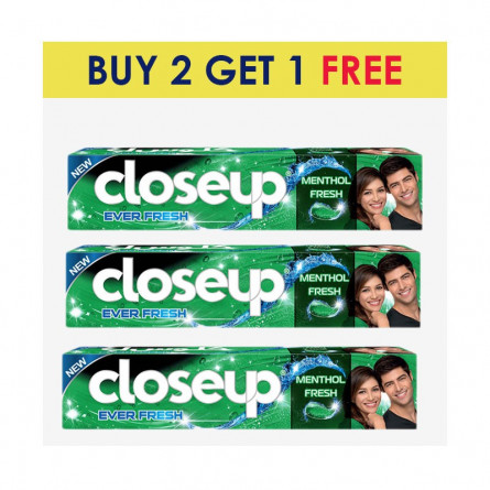 Closeup Toothpaste Menthol 120ml BUY 2 GET 1 FREE