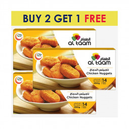 Al Taam Chicken Nuggets  280g  BUY 2 GET 1 FREE