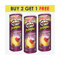 Pringles Barbeque Chips 165g BUY 2 GET 1 FREEE
