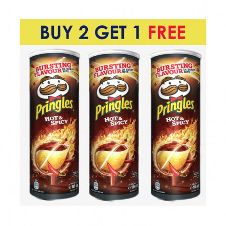 Pringles Hot & Spicy 165g BUY 2 GET 1