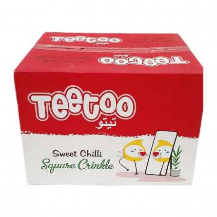 Teetoo Sweet Chilli Square Chips 16g Pack of 48